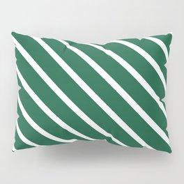 Teal The World (Green) Diagonal Stripes Pillow Sham