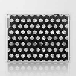 Mahogany Polka Dots (Black & White) Laptop & iPad Skin