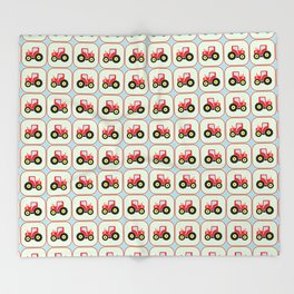 Toy tractor pattern Throw Blanket
