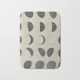Antique Moon Phases Chart Bath Mat