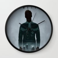 prometheus Wall Clocks featuring Prometheus by Luke Eckstein