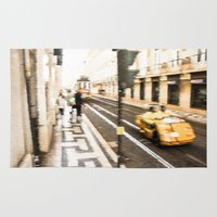 street Area & Throw Rugs featuring Street by Sébastien BOUVIER