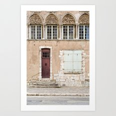 Little Brown Door Art Print