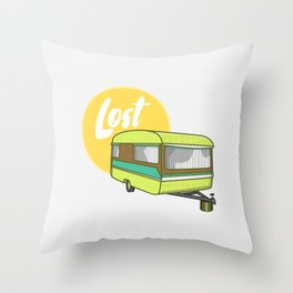 Caravan Lost Throw Pillow