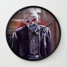 The Bank Robber (the joker) Wall Clock