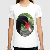 black swan T-shirts featuring Black Swan by Moonshine Paradise