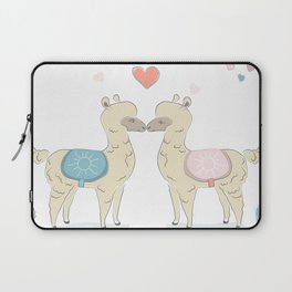 Llamas In Love Laptop Sleeve