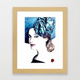 christina hendricks Framed Art Print