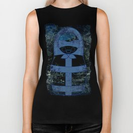 Blueprint Latex (background) Matryoshka / Nesting Doll  Biker Tank