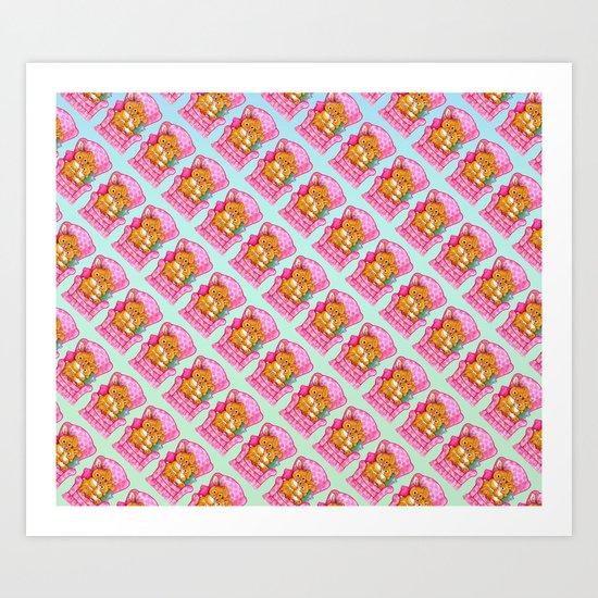 Huggin Bunnies Art Print