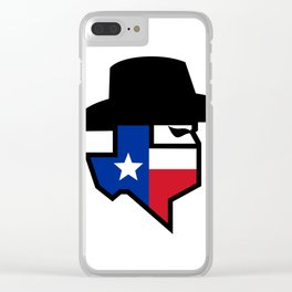 Bandit Texas Flag Icon Clear iPhone Case