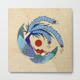 Minhwa: Asian Phoenix H Type Metal Print
