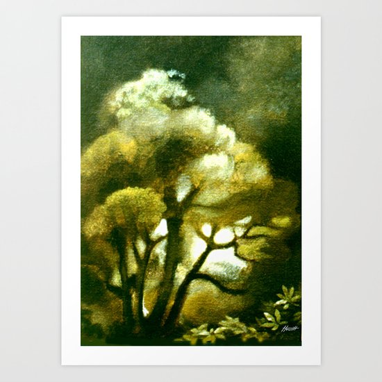 Spirit of the Tarairi Tree Art Print