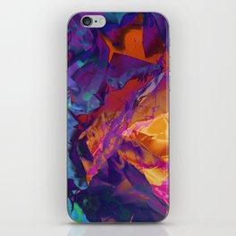 Dragon's Back. Dynamic, Blue, Purple and Orange Abstract. iPhone Skin