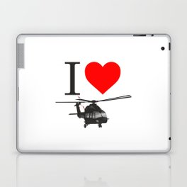 I Love Helicopters Laptop & iPad Skin