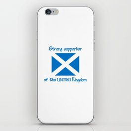 Supporter of the UNTIED Kingdom iPhone Skin