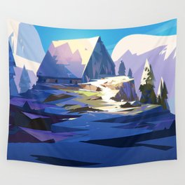 Blue Mountain Wall Tapestry