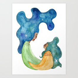 Mother & Daughter Art Print