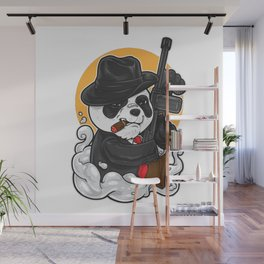 Gangsta Panda Wall Mural