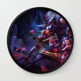 SKT T1 Vayne Jax Zyra Zed Lee Sin Splash Art Wallpaper Official Artwork League of Legends lol Wall Clock
