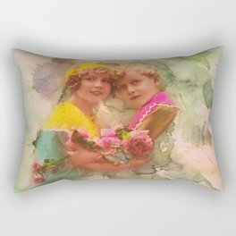 Vintage childhood of the last century Rectangular Pillow