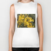 marc johns Biker Tanks featuring Beautiful St Johns Wort by Wendy Townrow