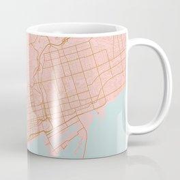 Pink and gold Toronto map, Canada Coffee Mug