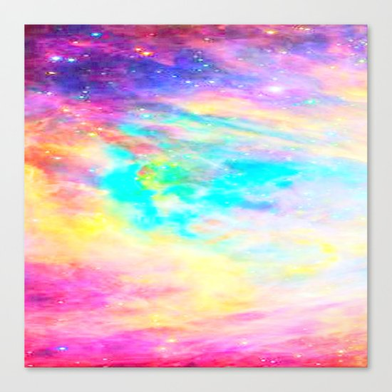 Abstract Galaxy : Bright & Colorful Canvas Print