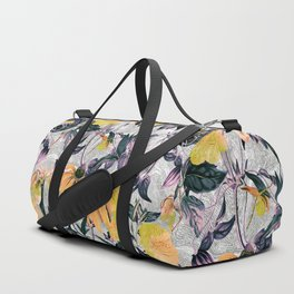Abstract pattern of yellow blooms Duffle Bag