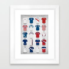 The Evolution of the Us World Cup Soccer Jersey Framed Art Print