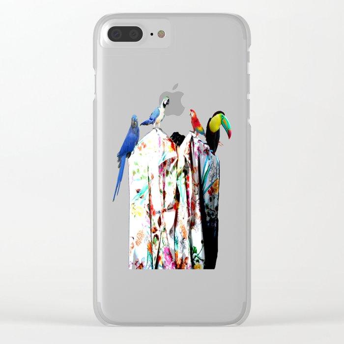 Elisavet's birds Clear iPhone Case