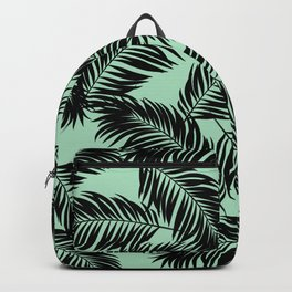 f0cd4c0bc21f Palm Frond Tropical Décor Leaf Pattern Black on Mint Green Backpack