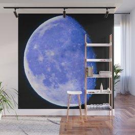 Icy Blue Moon Wall Mural