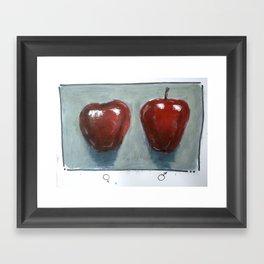 he and she Framed Art Print