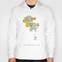 los angeles Hoodies featuring Los Angeles by Nicksman