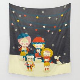 Christmas Carols Singers Wall Tapestry