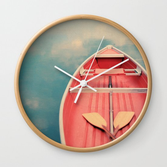Floating On A Cloud Wall Clock