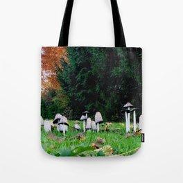 Family of Mushrooms Tote Bag