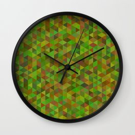 Green low poly background Wall Clock
