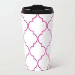 Quatrefoil - Bubblegum Travel Mug