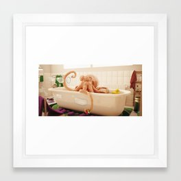 Octopus Bath Framed Art Print