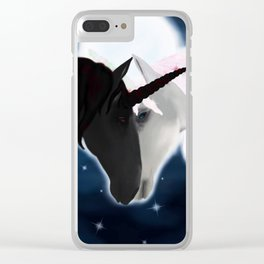 Unicorn love Clear iPhone Case