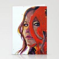 katniss Stationery Cards featuring Katniss by Alina Rubanenko