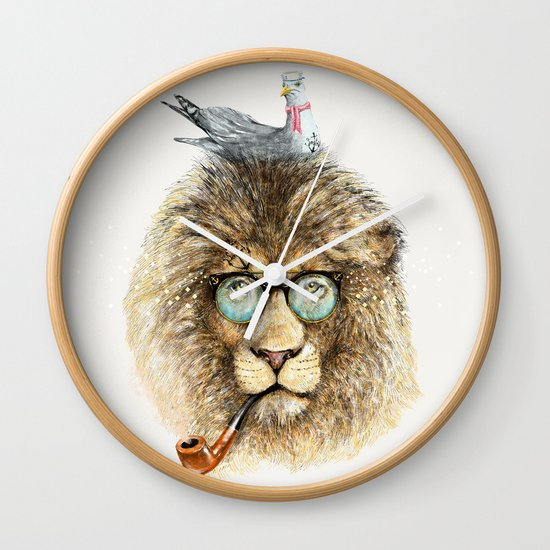 Lion sailor & seagull Wall Clock