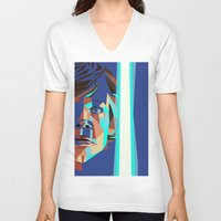 farm V-neck T-shirts featuring Farm Boy by Liam Brazier