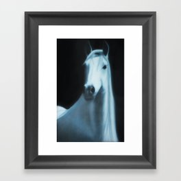 Annakai - The White Spirit Horse Framed Art Print