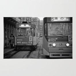 It's time to Start / Japan / Streetcar system / Hokkaido / Hakodate  Rug