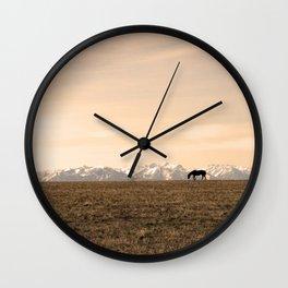 Montana Landscapes Wall Clock