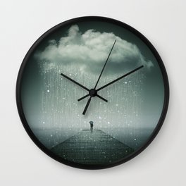 Weathering the Storm Wall Clock