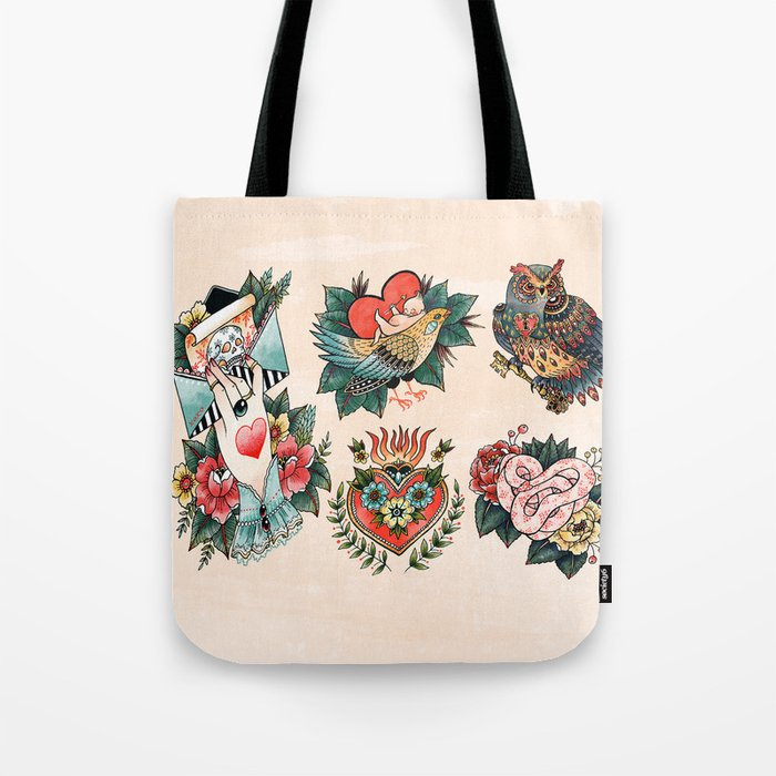 Tattoos of Love Tote Bag